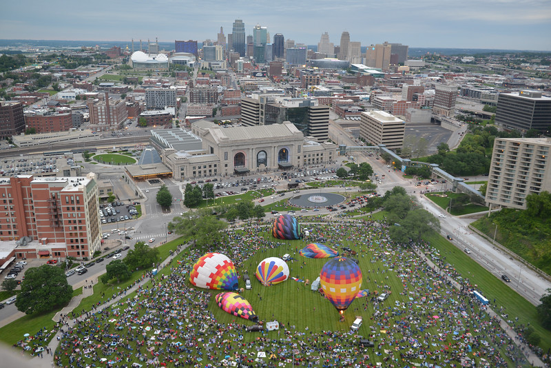 Images from balloon glow at the World War I Museum and Memorial on May 30. More than 30,000  people (4-5 times more than expected) showed up overwhelming vendors and clogging traffic in the area.