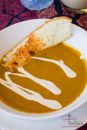 Hale Kope Coffee Plantation Estate Lunch: Kabocha & Moloka'i Sweet Potato Soup. © 2013 Sugar + Shake