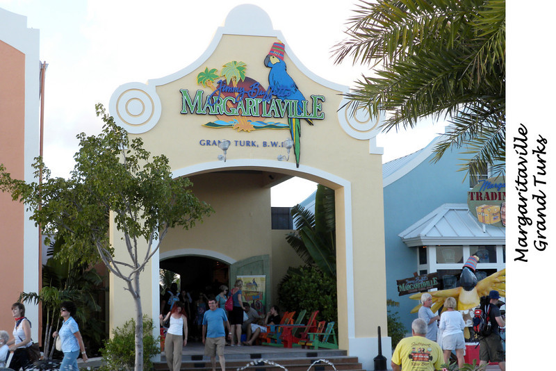 Margaritaville in the tourist area of Grand Turk.  Lots of entertainment and a free margarita as well.