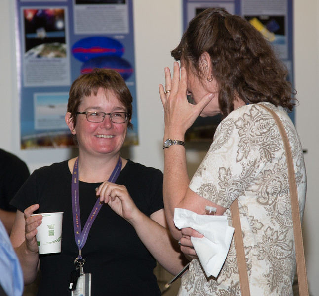 "Julie McEnery and Jennifer Wiseman -- Retirement party for Robin ""Tuck"" Stebbins, NASA/GSFC, May 20, 2016"
