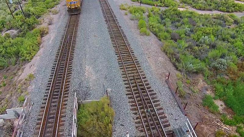 Aerial Train Flyby
