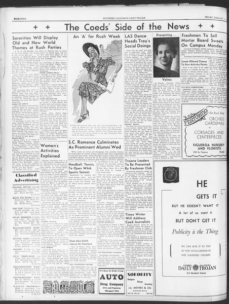 Daily Trojan, Vol. 30, No. 81, February 17, 1939