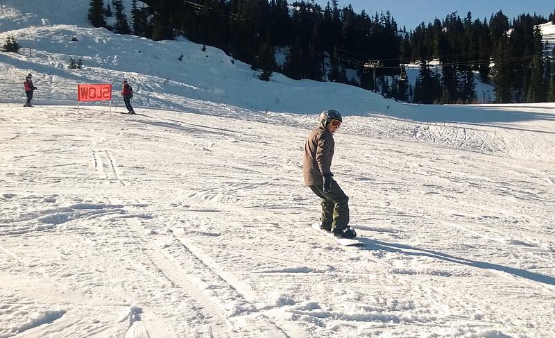 2014.01.18 - snowboarding at Stevens Pass