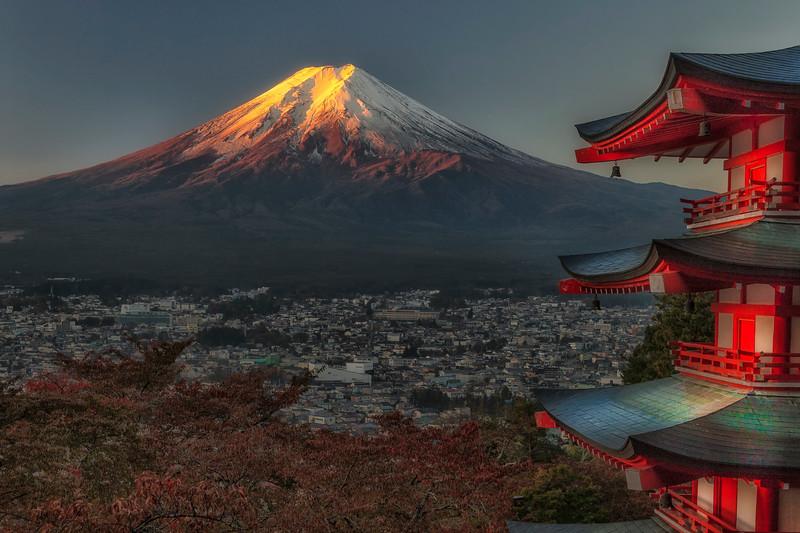 Chureito Pagoda, Mt. Fuji