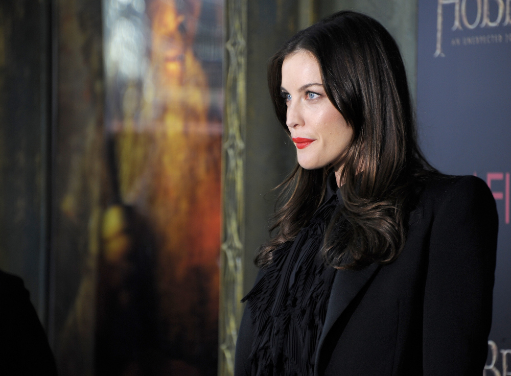 ". Liv Tyler attends ""The Hobbit: An Unexpected Journey\"" New York premiere benefiting AFI at Ziegfeld Theater on December 6, 2012 in New York City.  (Photo by Michael Loccisano/Getty Images)"