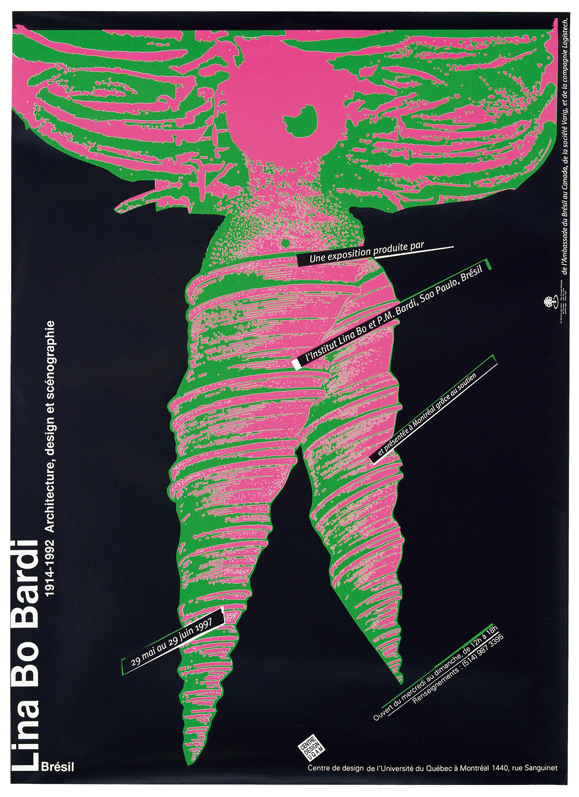 1997 - Exposition - Lina Bo Bardi 1914-1992 Brésil Architecture design et scénographie ©Alfred Halasa