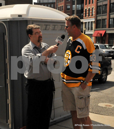 Boston Bruins Stanely cup in the N.End w/ Andrew Ference