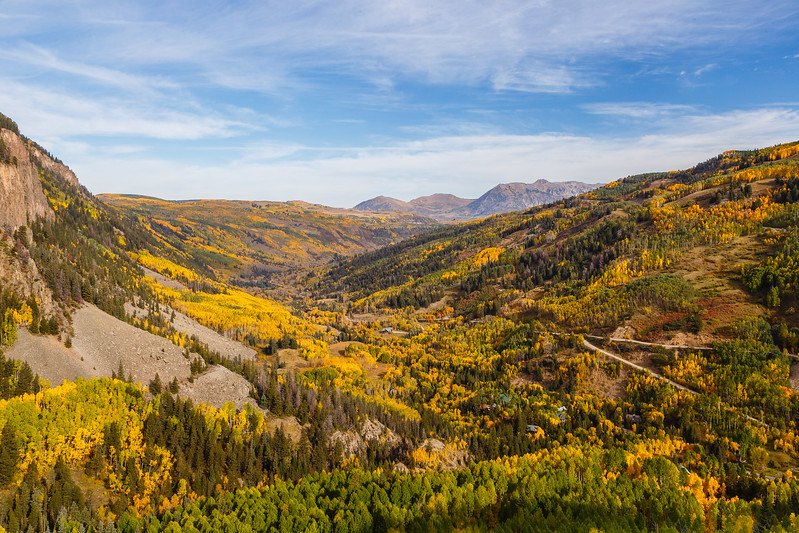 An Autumn view from Colorado 145 near Ames