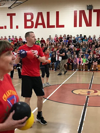 LT Staff vs. Student Dodgeball