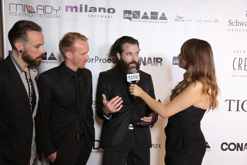 (L-R) NAHA Finalists Andrew Carruthers, Jeremy McDougle and Jake Thompson at the 2013 NAHA red carpet