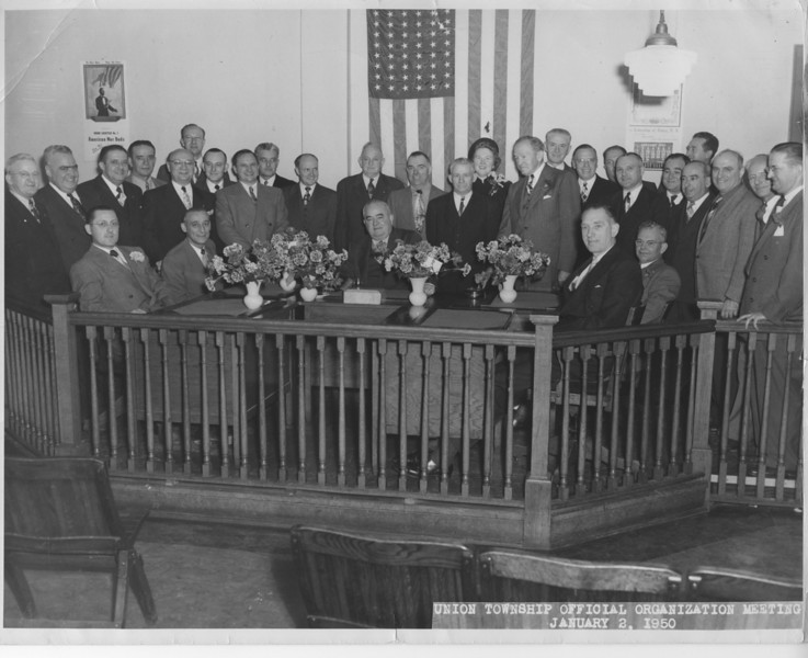 1950 Township Official Organization Meeting at Municipal Headquarters at 2004 Morris Ave.