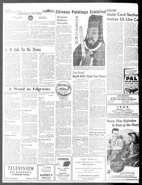 Daily Trojan, Vol. 40, No. 43, November 11, 1948