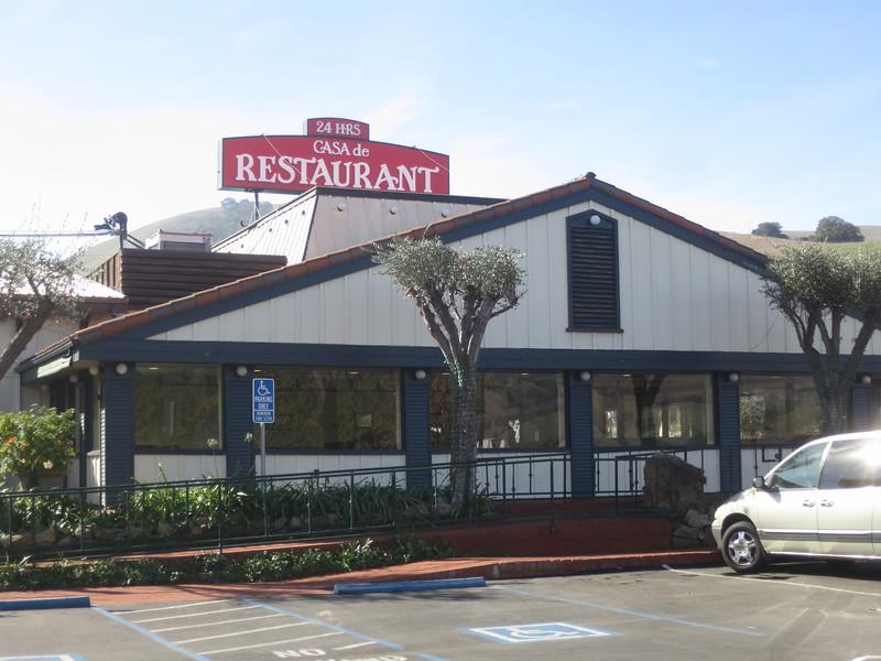 Casa De Restaurant and sign