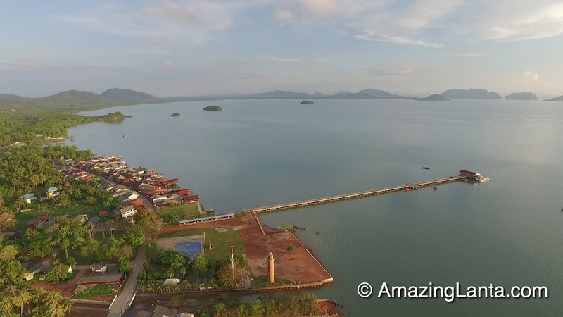 Koh Lanta Old Town Aerial View