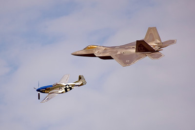 F-22 Raptor & Heritage Flight