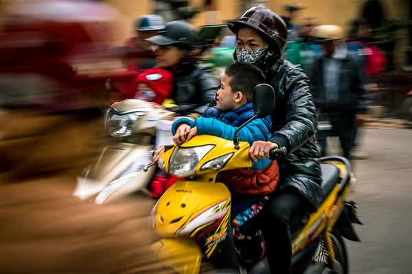 Hanoi streets and bikes