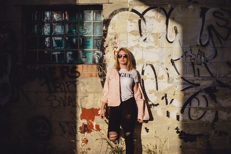 Pittsburgh Senior Photographer - Strip District Parking Garage Downtown - Grace 7.jpg