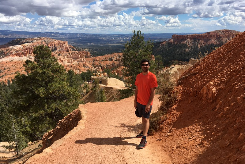 Graham tired on Run in Bryce Canyon