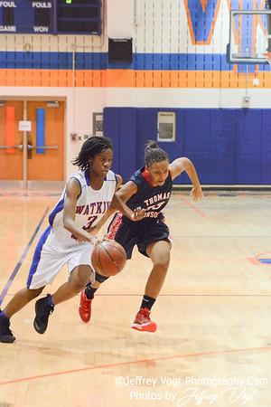 12-07-2013 Watkins Mill HS vs Thomas Johnson HS Girls Varsity Basketball, Photos by Jeffrey Vogt Photography
