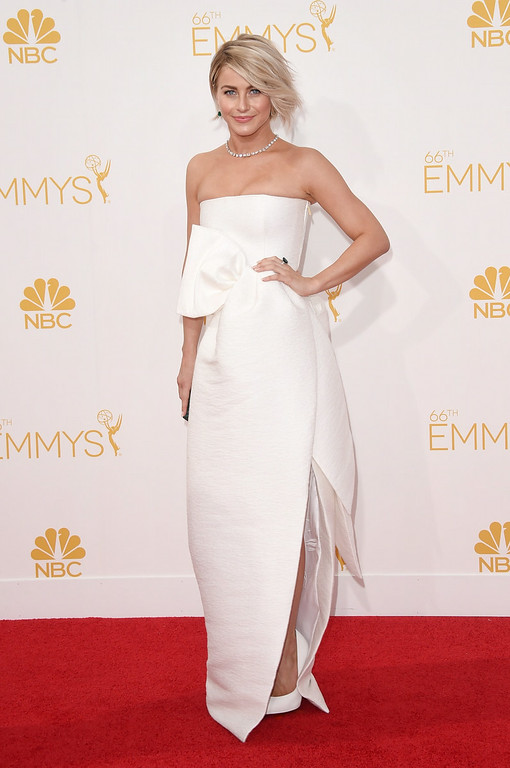 . Dancer/actress Julianne Hough attends the 66th Annual Primetime Emmy Awards held at Nokia Theatre L.A. Live on August 25, 2014 in Los Angeles, California.  (Photo by Jason Merritt/Getty Images)