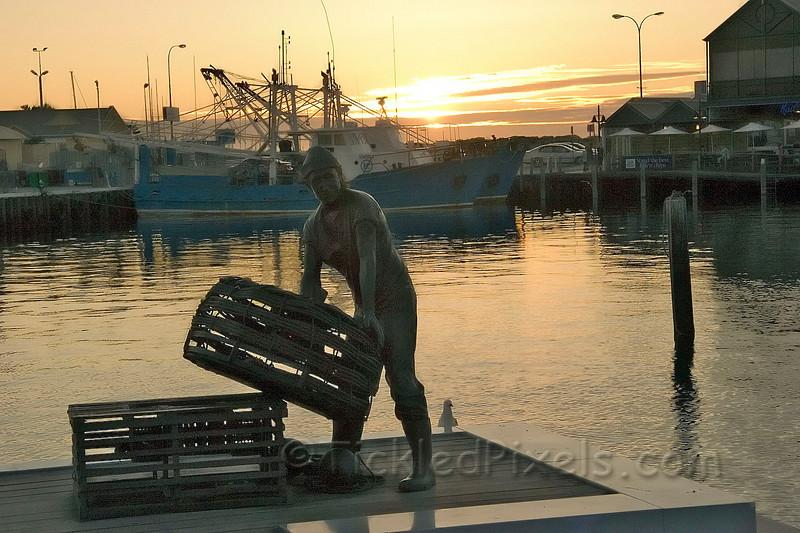 The Fishermen's Monument. Fremantle Harbour
