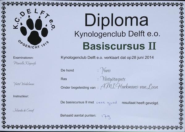 Yuno Basis II - diploma
