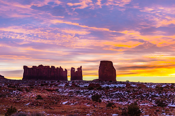 Winter Sunrise at Monument Valley