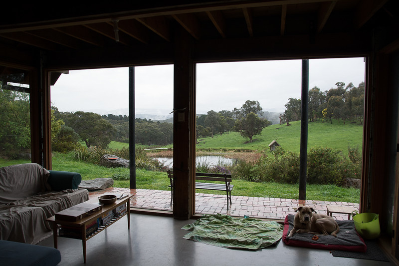 View from the first house we lived in - Smiths Gully near Melbourne