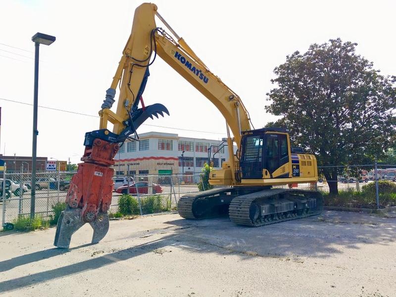 NPK M28K material processor on Komatsu excavator - commercial demolition - East Coast Demolition (3).jpg