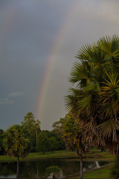 At least the rain left a nice rainbow to go along with the disgusting humidity.