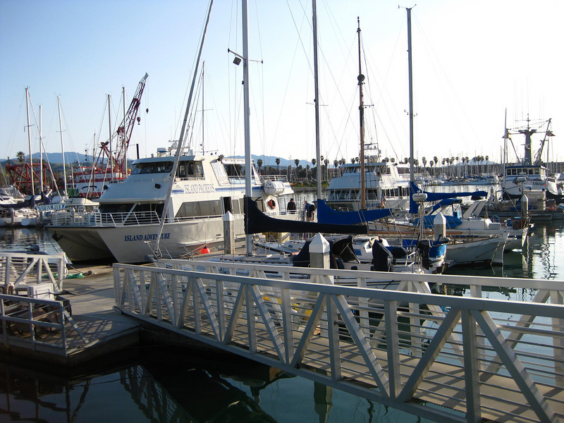 Island Packers boats in Ventura Harbor Marina