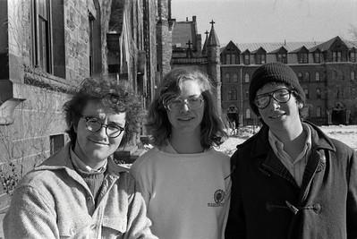 Leo Laporte, Bill Keene & Dave Chernoff Trumbull '77 (freshman year 1973-4)