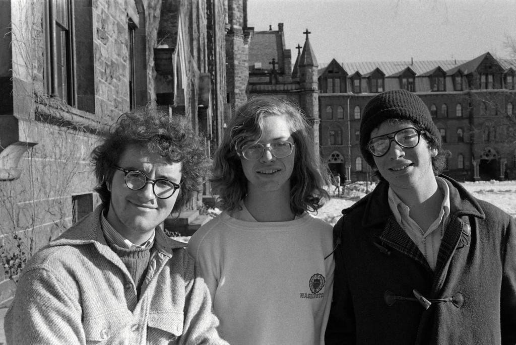 Leo Laporte, Bill Keene & Dave Chernoff<br /> Trumbull '77 (freshman year 1973-4)