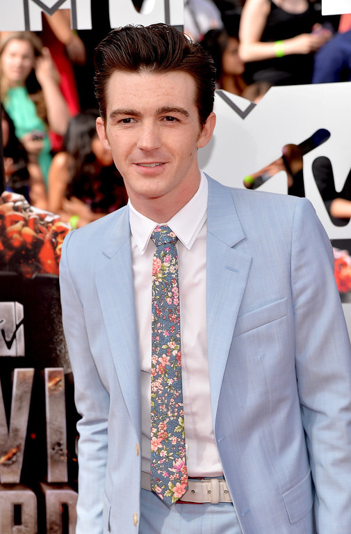 . Actor Drake Bell attends the 2014 MTV Movie Awards at Nokia Theatre L.A. Live on April 13, 2014 in Los Angeles, California.  (Photo by Michael Buckner/Getty Images)