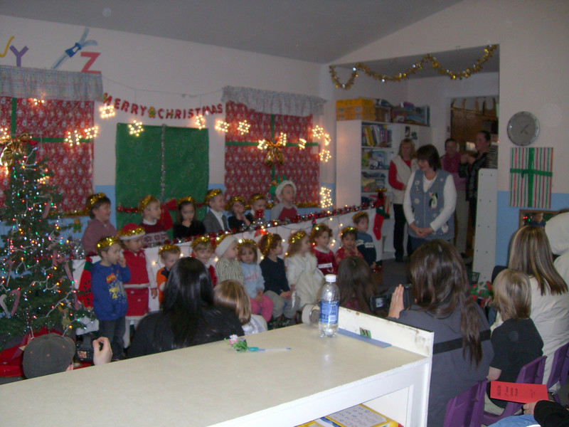 The daycare Christmas program. Can you find Kimber? Hint: She's the one that looks like a little angel. ;-)