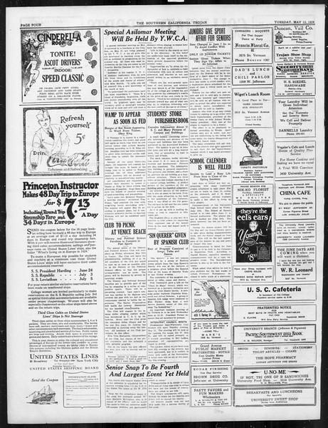 The Southern California Trojan, Vol. 15, No. 84, May 13, 1924