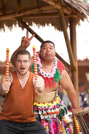 Having Fun at the Polynesian Cultural Center