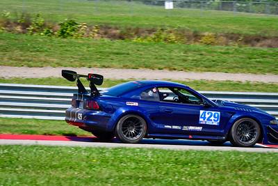 2021 SCCA Pitt Race Aug TT Blu 429 Mustang