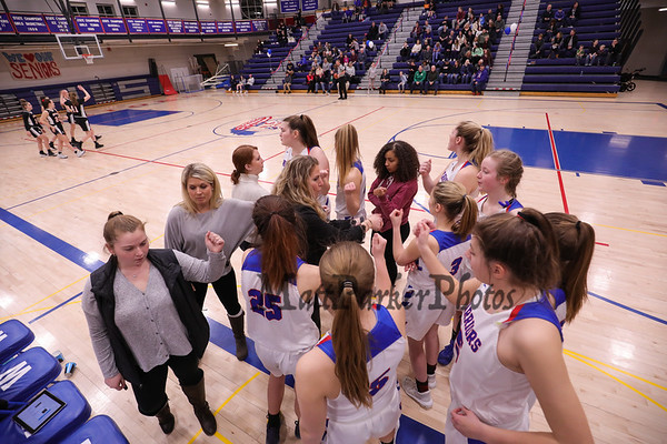 2019-2-22 WHS Girls Basketball vs Bedford WHS SR-Night