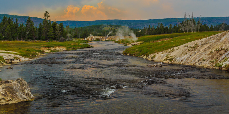 Down The Steamy Firehole
