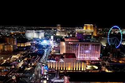 Las Vegas Strip, as seen from Eiffel Tower