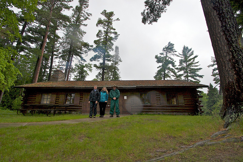 From left to right. Cathy Karen Jim. Taken in front of the Lodge at Scenic State Park. Built by the CCC in 1936.