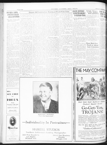 Daily Trojan, Vol. 22, No. 57, December 05, 1930