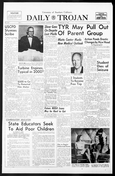 Daily Trojan, Vol. 57, No. 75, February 24, 1966