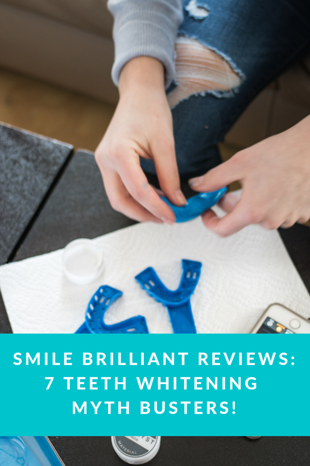 Think you know about teeth whitening at home? I didn't! That's why I'm happy to share about Smile Brilliant to clear up 7 teeth whitening myths!