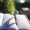 3.30ctw Aquamarine and Diamond Cluster Ring 27