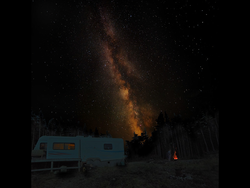 Milky Way at our trailer,  Little Barasway, Newfoundland