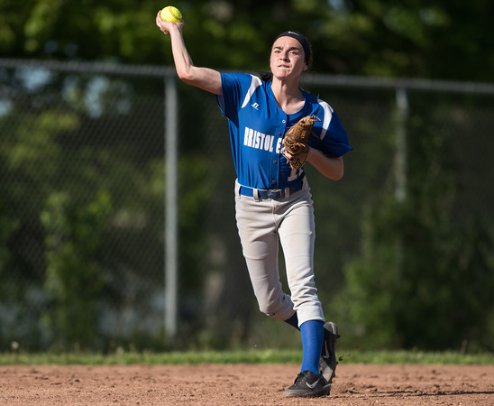 05/21/18 Wesley Bunnell   Staff Bristol Eastern softball defeated Bristol Central on Monday afternoon at Bristol Central High School. Jordan Fitzsimmons (10).