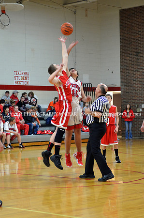 Tekonsha vs Bellevue JV Basketball Game 1-31-2014