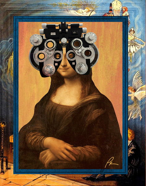Mona at the eye doctor.